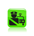 Roadblock single icon vector