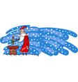 Bad santa claus cartoon card vector