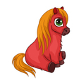 Red soft toy horse vector
