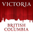 Victoria british columbia canada city skyline silh vector