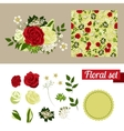 Hand drawn floral elements set of flowers you can vector