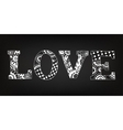 Chalk art decorative letters l o v e vector
