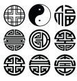 Chinese logos vector