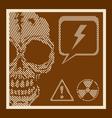 Skull retro vector