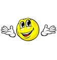 Friendly emotion face icon vector