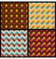 Set of patterns with rhombuses and zigzags vector