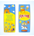 Carnival banners vertical vector