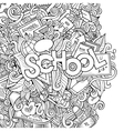 Cartoon school sketch background vector
