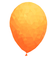 Polygonal orange balloon vector