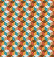 Vintage cube flat color background vector