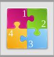 Puzzle square vector