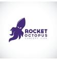 Rocket octopus abstract concept icon vector