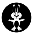 Hare button vector