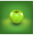 Fresh green apple vector