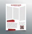 Creative minimalistic business flyer template vector