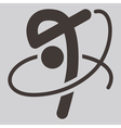 2275 gymnastics rhythmic icon vector