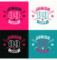 College baseball junior team emblem vector