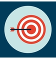Target arrow design vector