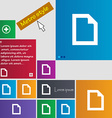 Text file document icon sign metro style buttons vector