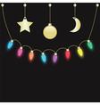 Party light bulbs vector
