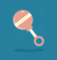 Baby rattle toy vector