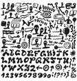 Web doodles  alphabet vector