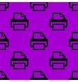 Printer web icon flat design seamless pattern vector