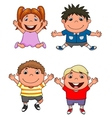 Happy kids cartoon set vector