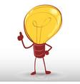 Idea light bulb man vector