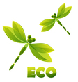Logo - green dragonfly vector
