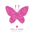 Colorful cupcake party butterfly silhouette vector