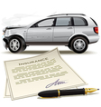 Crash car insurance vector