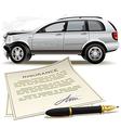 Crash car insurance vector
