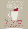Fun vintage christmas coffee cup vector