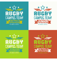 College rugby junior team emblem vector