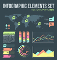 Flat style infographic elements set with diagrams vector