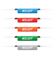 40 percent off paper tag label vector