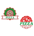 Italian pizza emblems and banners vector