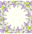 Round frame with decorative butterflies ornament vector