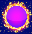 Star burst frame vector