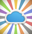 Speech cloud template with the color rays vector
