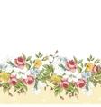 Seamless floral border vector