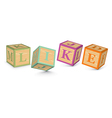 Word like written with alphabet blocks vector