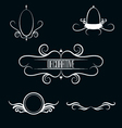 Collection of white decorative border frames vector