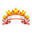 Stars banner vector