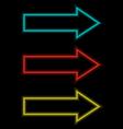 Self-illuminated arrows on black vector
