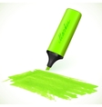 Green marker with drawn spot vector
