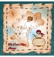 Pirates treasure map vector