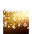 Elegant gold christmas background eps 8 vector