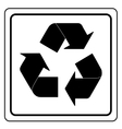 Black recycle sign vector